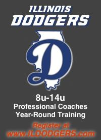 Illinois Dodger youth baseball tryouts.