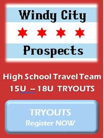 Top Dog Baseball Windy City Prospects baseball tryouts age 15u to 18u