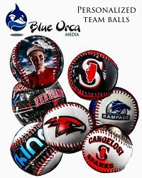 Custom Team and Player Baseballs made by Blue Orca