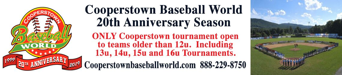 Cooperstown baseball world tournaments