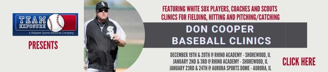 Don Cooper Baseball Clinics December and January 2020
