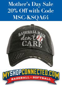 Mother's day sale 20% off - baseball and softball