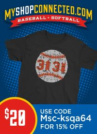 Baseball t-shirt 3 up 3 down