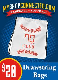 Myshopconnected drawstring bags baseball and softball