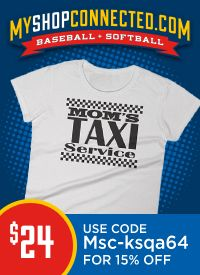 baseball t-shirt mom taxi service