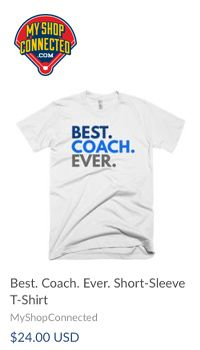 T-shirt Best Coach Ever