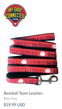 Baseball MLB team dob leashes
