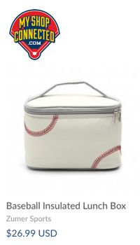 Lunch bag with baseball laces