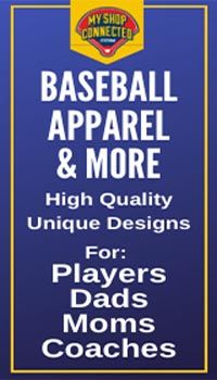 Fun Baseball apparel for players dads moms coaches toddlers and infants