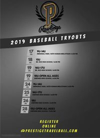 Youth Baseball Tryouts at Prestige Baseball