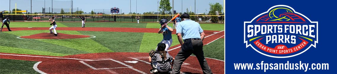 Sports Force Parks youth baseball tournaments Cedar Point Ohio