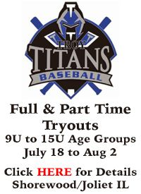 Troy Youth Baseball Tryouts Shorewood Illinois