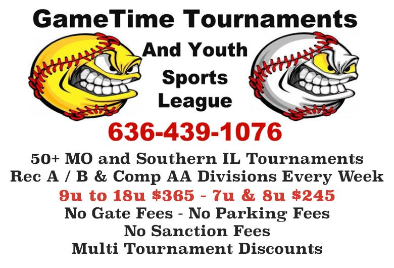 GameTime Youth Baseball Tournaments Missouri and Southern Illinois