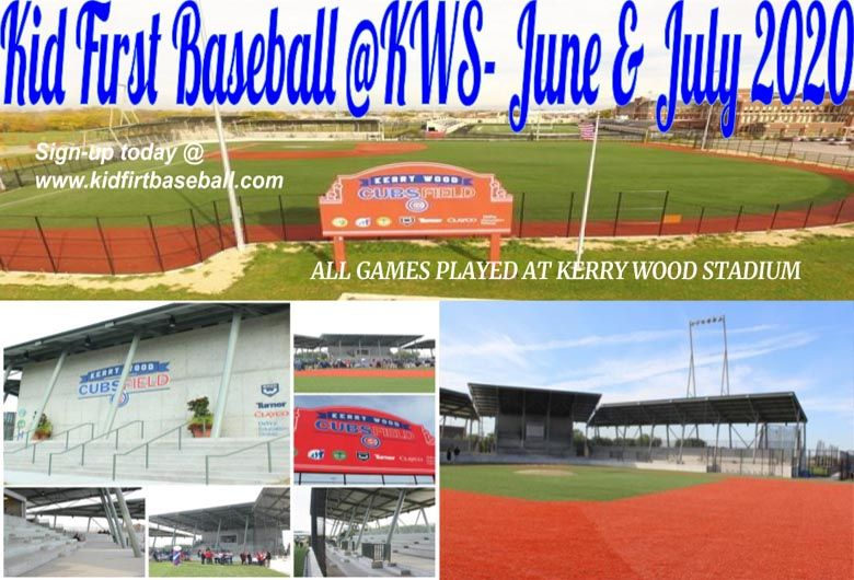 Kids First Sports Baseball Tournaments Evanston IL Kerry Woods Stadium