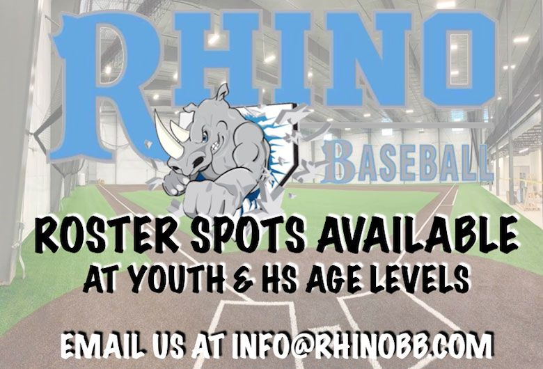 Rhino Baseball Looking for Players ages 7u to 18u